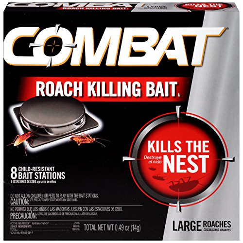 Combat Roach Killing Bait Large Roach Bait Station Kills the Nest ChildResistant 8 Count