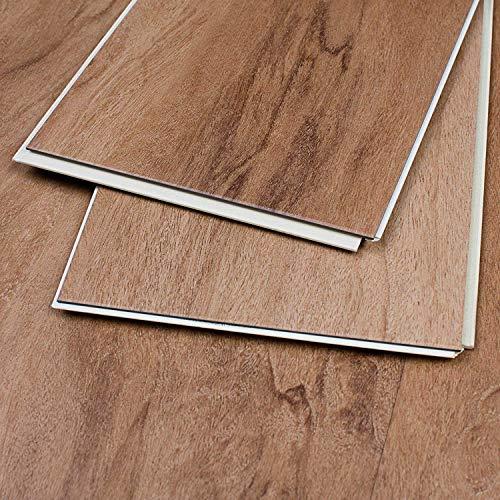 MAYKKE Rustic Oak 18 Sq Ft Luxury Vinyl Interlocking Plank Flooring 48x6 inch (Pack of 8) Easy Installation Hardwood, Wood Grain, JHA1020102