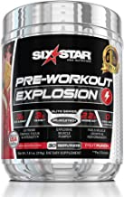 Six Star Explosion Pre Workout, Powerful Pre Workout Powder with Extreme Energy, Focus and Intensity, Fruit Punch, 30 Servings