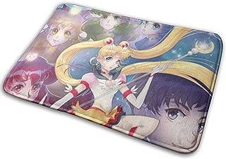 Yellowbiubiubiu Sailor Moon Group Photo Doormats Rectangle Carpet Non Slip Mat Decor Floor Rug Mats Size:19.5 X 31.5in