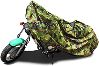 uxcell XL 190T Rain Dust Motorcycle Cover Camouflage Outdoor Waterproof 96