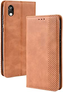 Leather Case Compatible with Huawei Honor Play 3e, PU Leather+Soft Inner Design Business Magnetic Closure Flip Wallet Case Cover Phone case (Color : Brown)