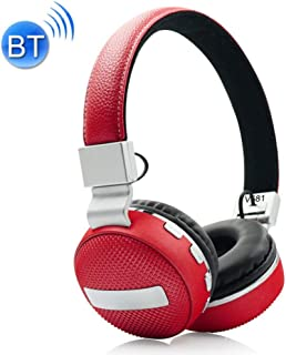 Wireless Bluetooth Headset, Bluetooth 4.2 Noise Reduction Comfortable Wearing Headset Suitable for Music/Outdoor Sports/Travel,Red