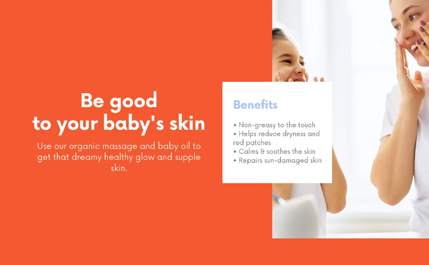 Nature's Baby Organics Baby Oil - Soothing & Hydrating Shower Oil - No Mineral Oil & Non-Greasy - Soft & Healthy Skin - Massage Oil for Newborn & Kids - Sunflower & Olive Oil - Mandarin Coconut (2 Pack 4 oz)