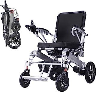 Sillas de ruedas eléctricas plegables CHHD, sillas de ruedas eléctricas fácilmente plegables con batería de polímero de iones de litio de 20 Ah, sillas de ruedas eléctricas motorizadas para personas m
