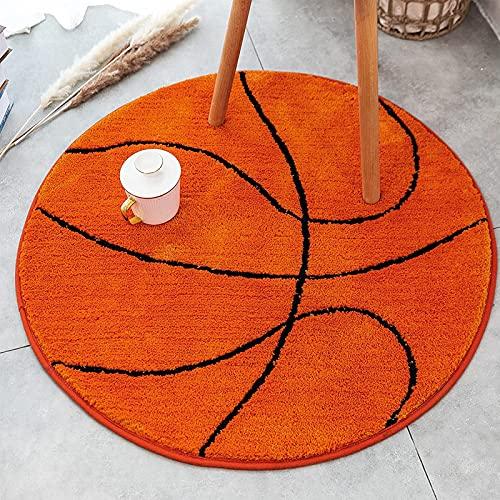 HTTC Basketball-Muster Teppichboden (Fußball, Baseball), 2,7-Fuß-Badezimmer-Matte, Innen-Teppich, Wohnzimmer Teppichboden, Schlafzimmer-Teppich Basketball