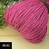 Hilo de Rafia de Verano Crochet Hilos de Paja Naturales Artesanías para Bricolaje Sombrero de Tejer Bolso Monedero Cesta Material de ratán Color 500g, 15