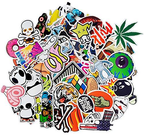 Korlon Sticker Pack, 100 Pcs Vsco Stickers Bomb Graffiti Bumper Stickers for Water Bottles, Skateboards, Motorcycle Bicycle Luggage Laptop, Waterproof, Random Patterns