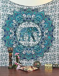 Jaipurhandloom Christmas Gift Bohemian Tapestry Elephant Mandala Tapestry Tapestry Wall Hanging Boho Tapestry Hippie Hippy...
