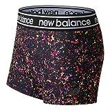 New Balance - Pantalones Cortos para Mujer, Mujer, Pantalones Cortos, WS81142BMM, Negro Multi, M
