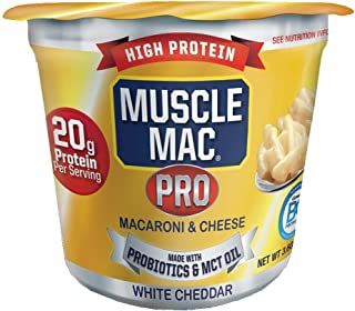 Sponsored Ad - Macaroni and Cheese Microwavable Cups Made With Probiotics And MTC Oil, 20g Protein Per Serving, Real White...