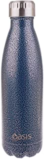 NEW OASIS DRINK BOTTLE 500ml Double Wall Insulated Thermal Hot Cold HAMMERTONE BLUE