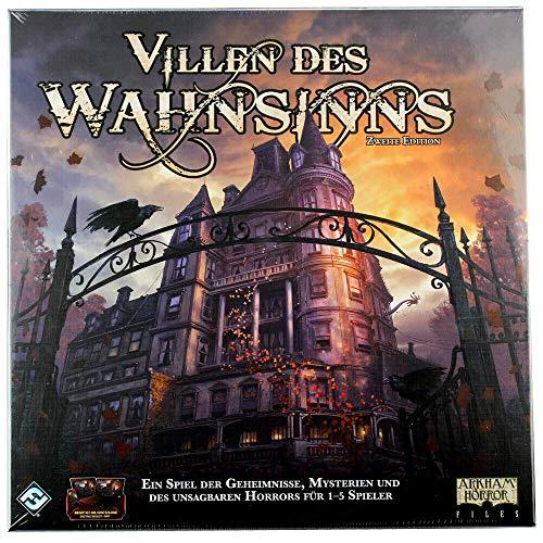 Asmodee Fantasy Flight Games FFGD1036 Villen des Wahnsinns 2. Ed. (Überarbeitet), Experten-Spiel, Deutsch