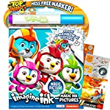 Nickelodeon Universe Top Wing Imagine Ink Coloring Book Set for Toddlers Kids ~ Mess Free Coloring Book with Magic Invisible Ink Pen and Over 100 Disney Planes Stickers (No Mess Art Bundle)