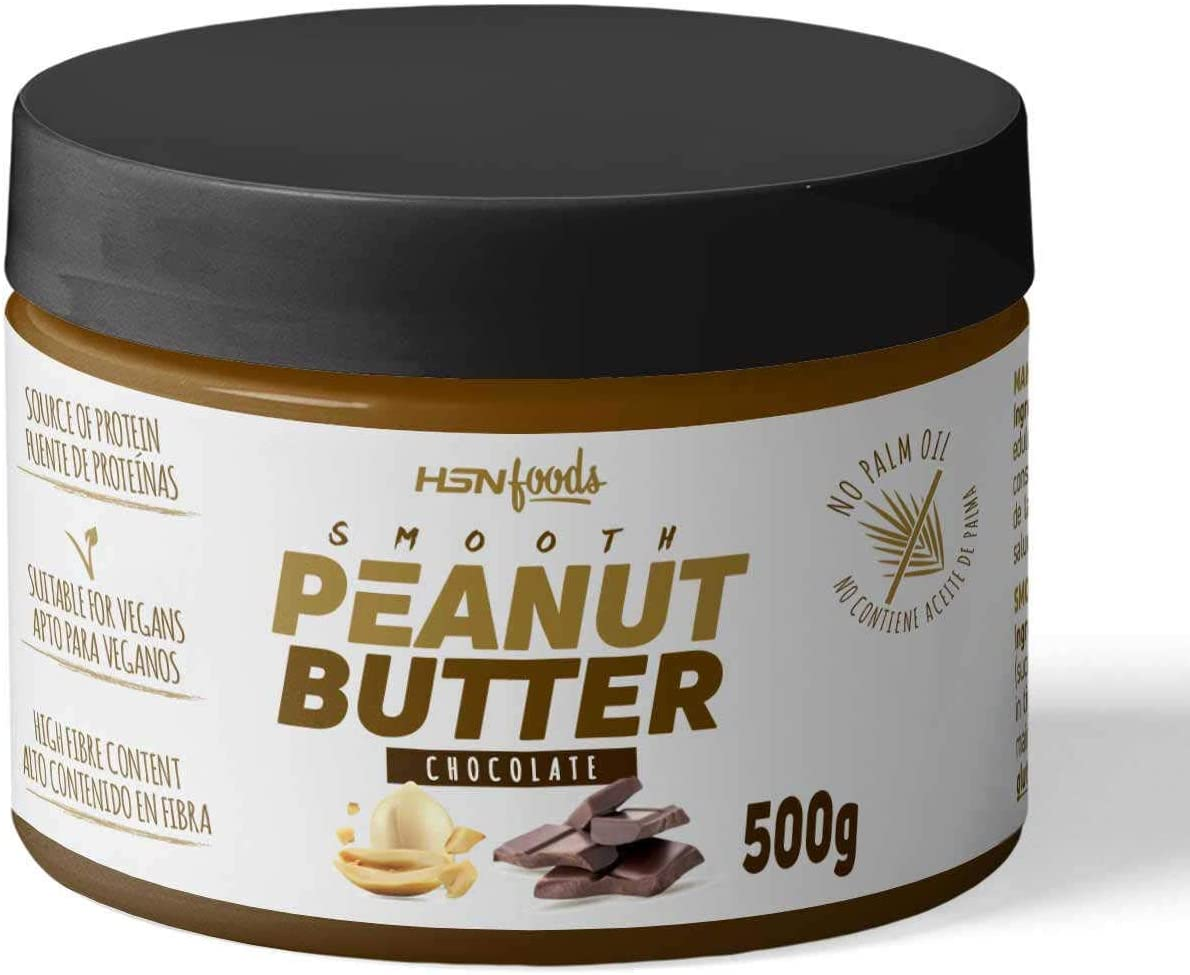 HSN Crema de Cacahuete Peanut Buter | 100% Natural Snack Saludable | Fuente de Fibra + Proteínas Vegetales + Ácidos Grasos Esenciales | Vegano, Sin ...