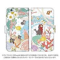 Xperia Z3 SO-01G ケース [デザイン:人魚姫/マグネットハンドあり] 童話 手帳型 スマホケース カバー エクスペリア so01g