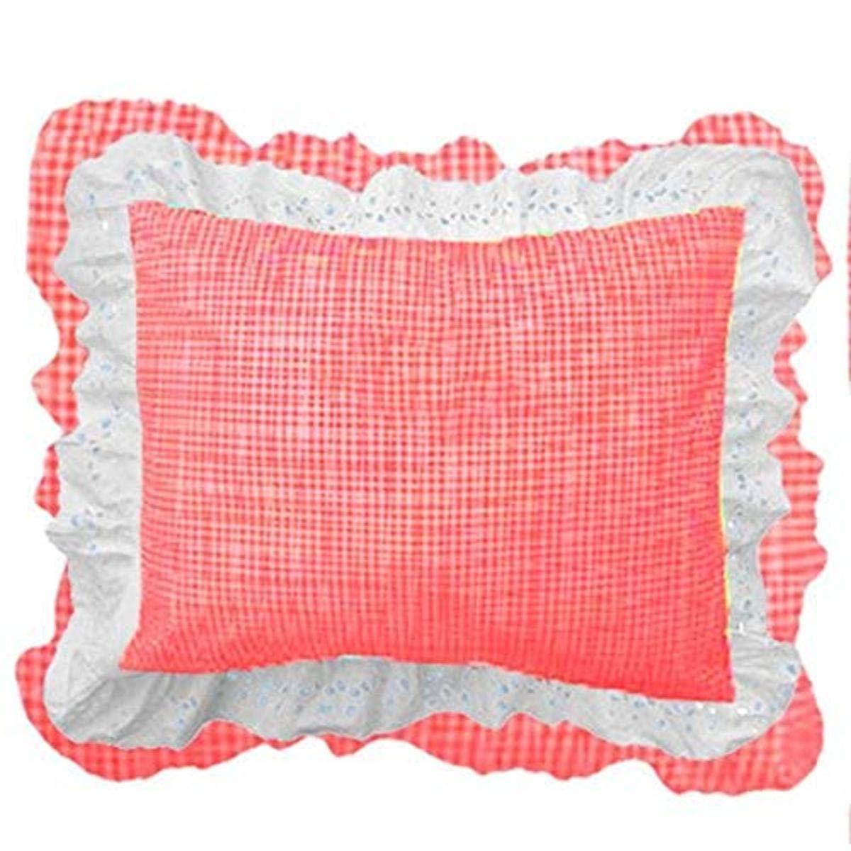 bkb Gingham Patchwork Pillow Sham, Red Gingham/White