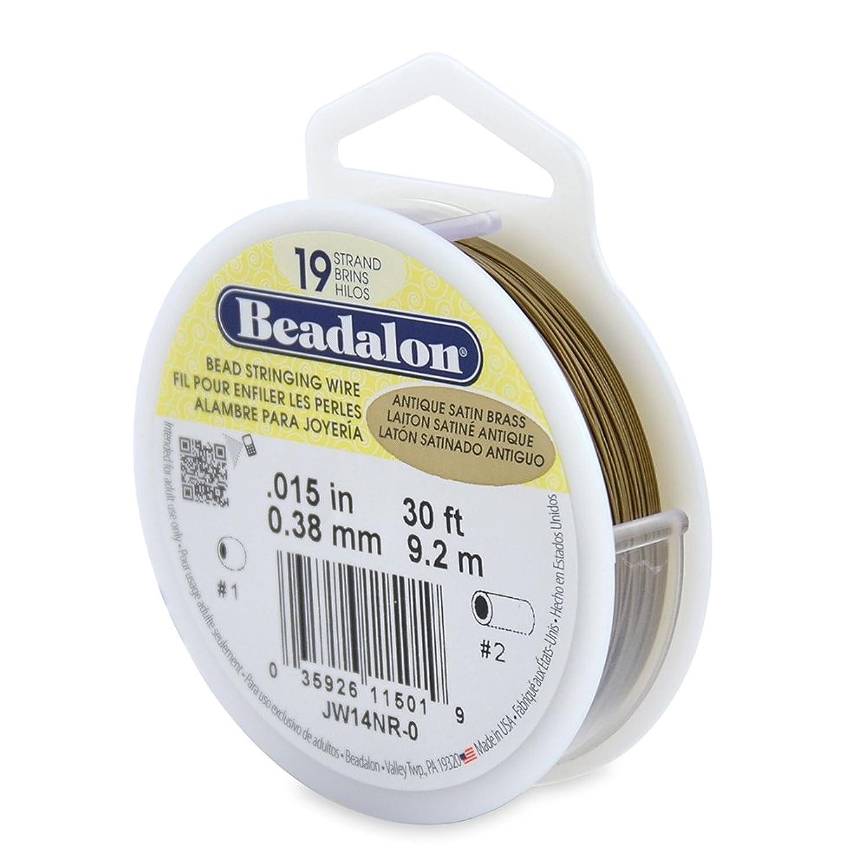 Beadalon 19 Strand Wire .015-Inch Antique Satin Brass, 30-Feet