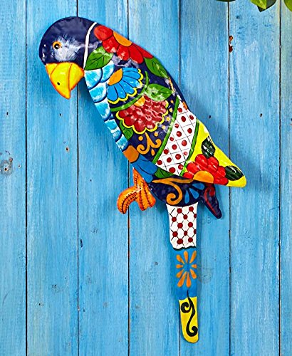 The Lakeside Collection Tropical Metal Sculptures - Parrot