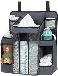 Jenny Ben Oxford cloth storage bag Baby bed storage bag Diaper storage bag Baby Bottle Hanging bag