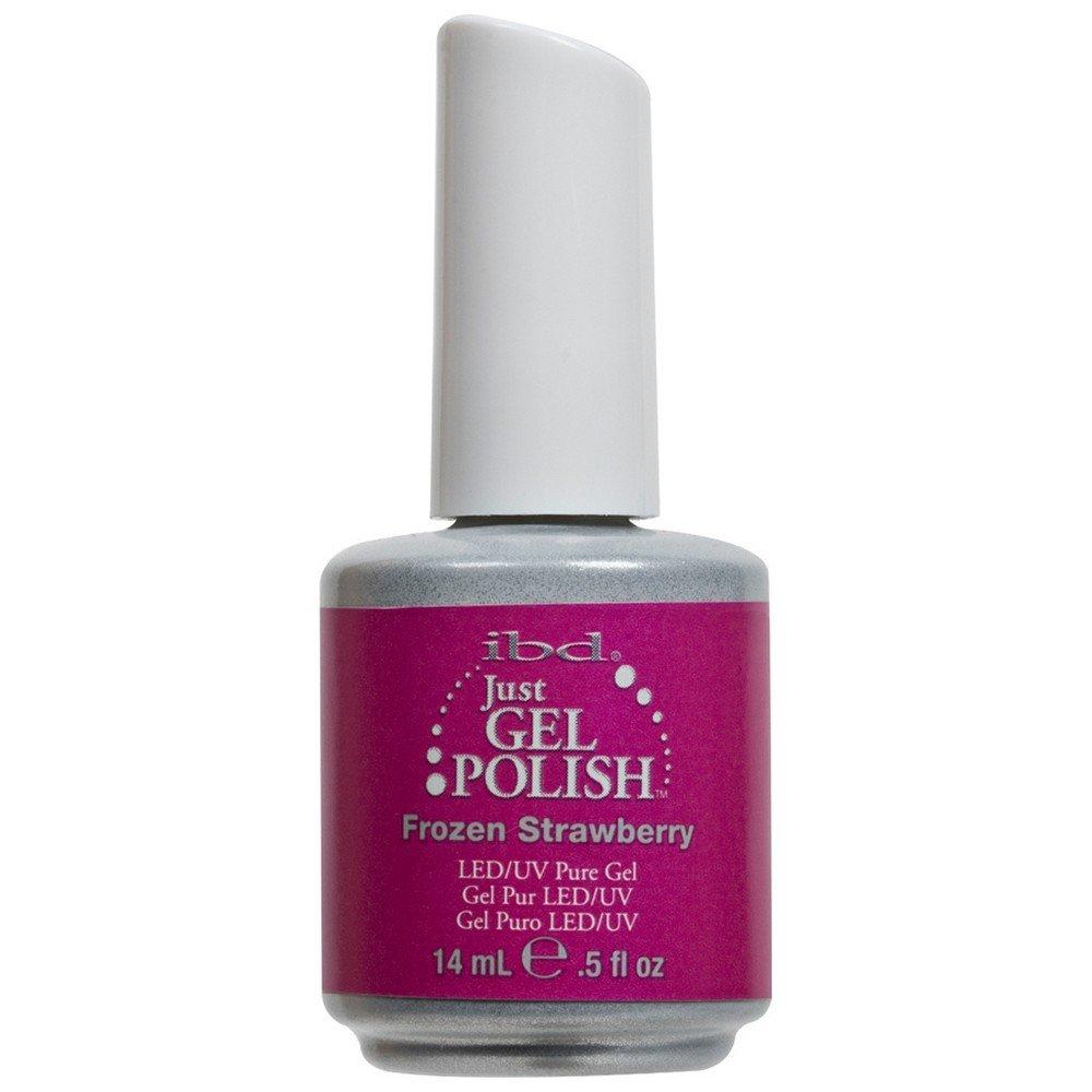 IBD Just Gel FROZEN STRAWBERRY Soak Off Pink Nail Polish UV Manicure .5 oz Salon