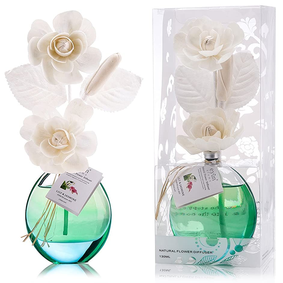 バイオリニスト髄誕生日 プレゼント に A03 ルームフレグランス (花瓶:水色, 香り:ユリ & ジャスミン)