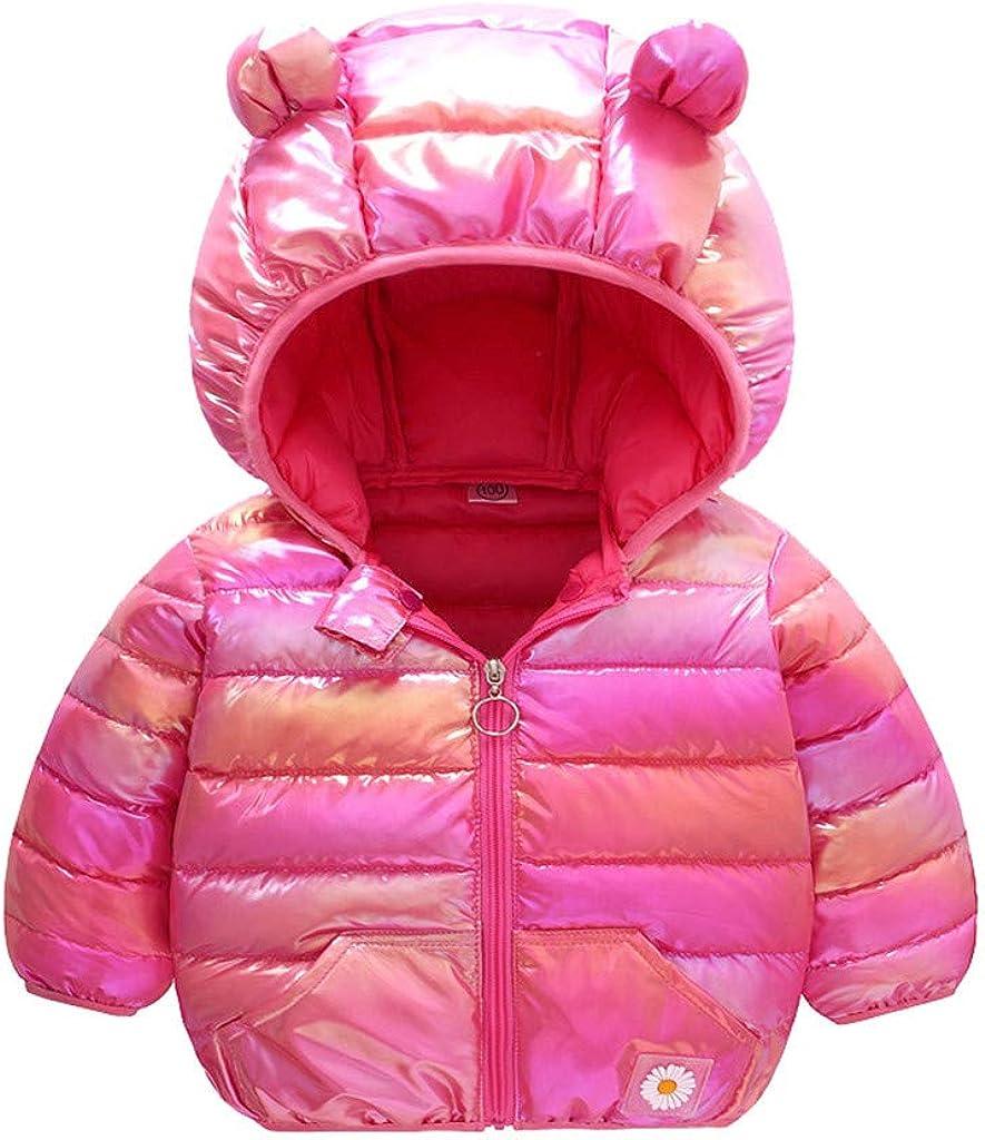 Kids Lightweight Down Jacket with Ear Outwear Coat Windproof Warm Hoods Jacket