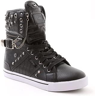 Pastry Sugar Rush Adult High-Top Sneaker & Dance Shoe, Hardware & Stud Detail