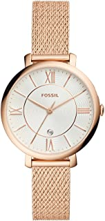 Fossil Womens Quartz Watch, Analog Display and Stainless Steel Strap ES4352