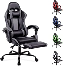 ALFORDSON Racing Gaming Chair Executive Sport Office Chair with Footrest Headrest and Lumbar Cushions(Axer Grey)