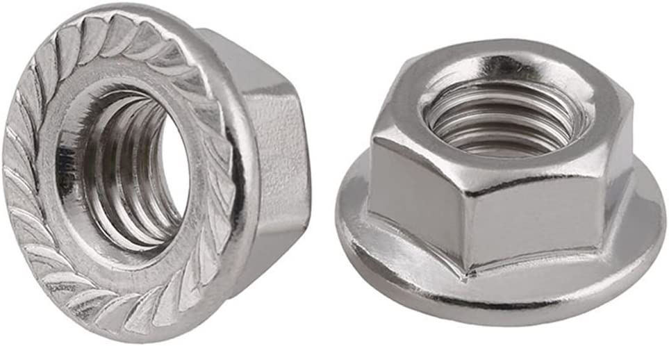 SNG274 SNUG Fasteners 385 Qty Assorted SAE Standard Zinc Plated Serrated Flange Hex Lock Nuts