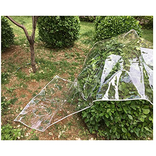 LIJINBO Plant Covers, Transparent PVC Tarpaulin, Waterproof Heavy Duty Tarp Sheet With Eyelets, Rainproof Curtain (400gsm), Customizable (Color : Clear, Size : 2x2.5m)