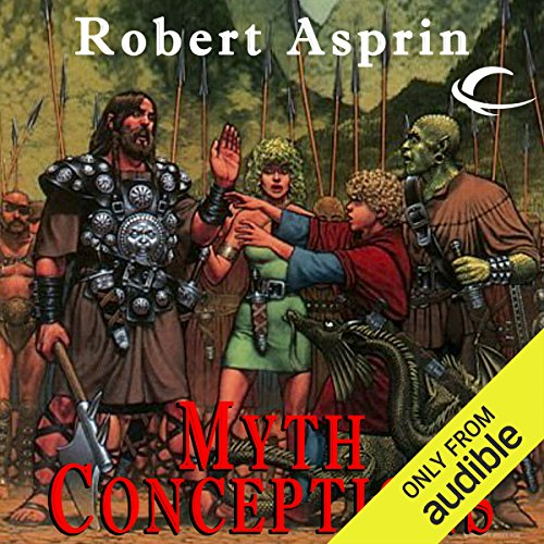 Myth Conceptions     Myth Adventures, Book 2              By:                                                                                                                                 Robert Asprin                               Narrated by:                                                                                                                                 Noah Michael Levine                      Length: 5 hrs and 32 mins     641 ratings     Overall 4.6