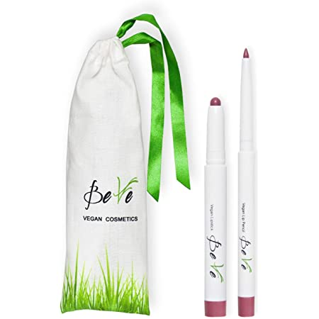 BeVe - Kit de maquillaje vegano para labios con barra y perfilador