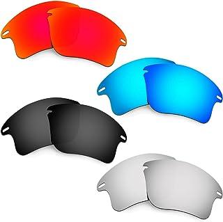 Hkuco Plus Mens Replacement Lenses For Oakley Fast Jacket XL Red/Blue/Black/Titanium Sunglasses