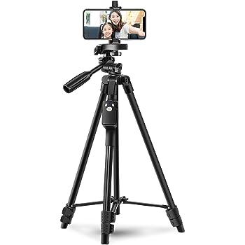 三脚 スマホ三脚 リモコン付き ビデオカメラ 一眼レフカメラ ミニ三脚 さんきゃく 3WAY雲台 4段階伸縮 360回転 収納袋付きiPhone/Android スマホ等対応…