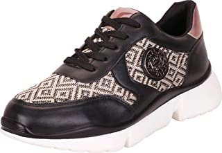 Cambridge Select Women's Lace-Up Low Top Mixed Media Print Medallion Fashion Sneaker