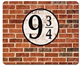 1art1 Muros De Ladrillos - Plataforma Nueve Y Tres Cuartos Alfombrilla para Ratón (23 x 19cm)
