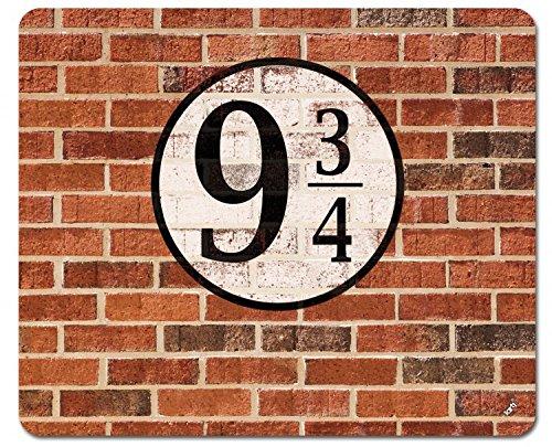 1art1 Ziegelstein-Mauern - Gleis Neundreiviertel Mauspad 23 x 19 cm