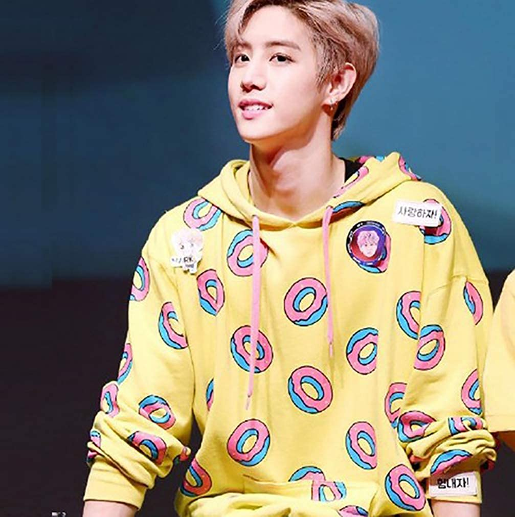 Kpop GOT7 Just Right The Same Style Hoodie Jackson Pullover Cute Donut Sweater