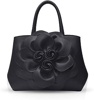 1b9cd76ccc4604 NICOLE & DORIS Trendy Damen Schultertasche Handtasche Crossbody Tasche  Blumenmuster