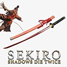 Yongli Sword SEKIRO: Shadows Die Twice Wolf Cosplay Replica Sword Mortal Blade Japanese Game Katana Red High Manganese Steel