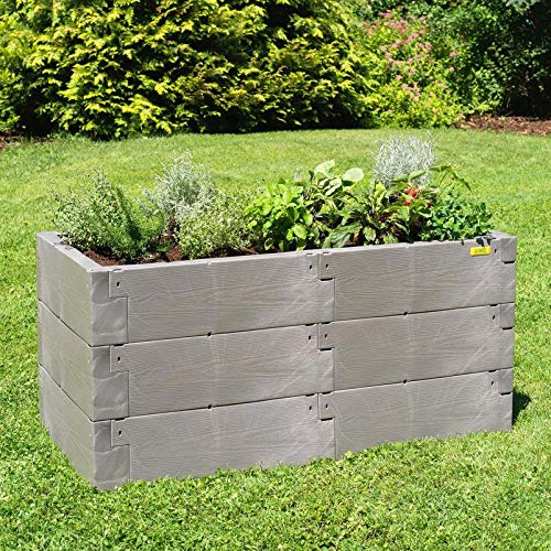 JUWEL Hochbeet Timber, 18 wärmeisolierende Bausteine, 100% recycelbar