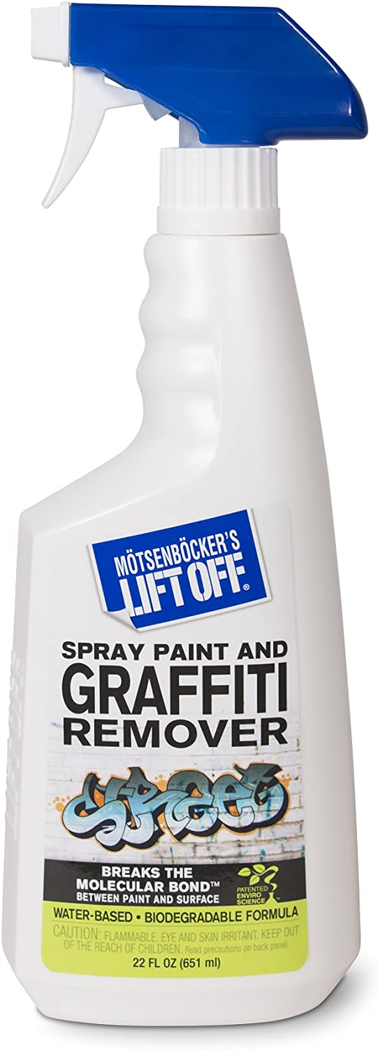 Motsenbocker's Lift Off 41101 22-Ounce Premium Spray Paint and Graffiti Remover Works on Multiple Surface Types Concrete, Vehicles, Brick, Fiberglass and More Water-Based and Biodegradable