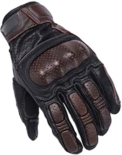 Motorcycle Gloves, Retro Leather Motorcycle Gloves Men, Touch Screen Motorcycle Gloves All Fingers Breathable for Outdoor Motorcycle Gloves Off-road motorcycle equipment ( Color : Brown , Size : XL )
