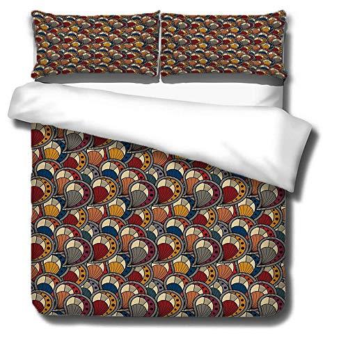 MLX-BUMU Juego de ropa de cama con estampado de ciclo, diseño de anime, impresión 3D, funda de edredón y funda de almohada, 260 x 220 cm