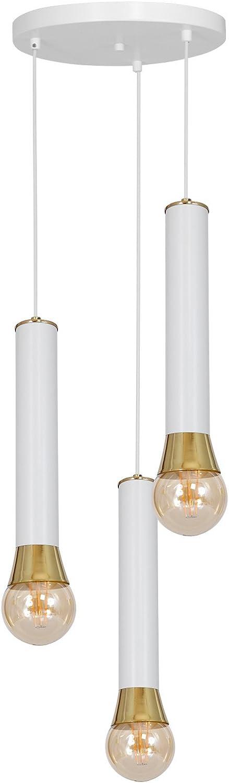 Lunae 3 Kronleuchter Lampe Deckenleuchte Lampe Teller Wei Messing