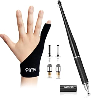 MEKO Stylus Pens for Touch Screens, 2 in 1 Disc Stylus for iPad, Tablets, Laptop with Palm Rejection Artist Glove