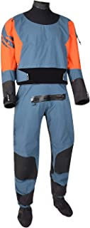 Typhoon Multisport 5 Rapid Drysuit Dry Suit with Convenience Zip & Free Underfleece - Teal Orange - Comfortable Internal