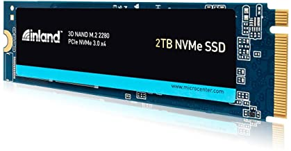 Inland Premium 2TB SSD 3D NAND TLC M.2 2280 PCIe NVMe 3.0 x4 Internal Solid State Drive, Read/Write Speed up to 3200MB/s a...